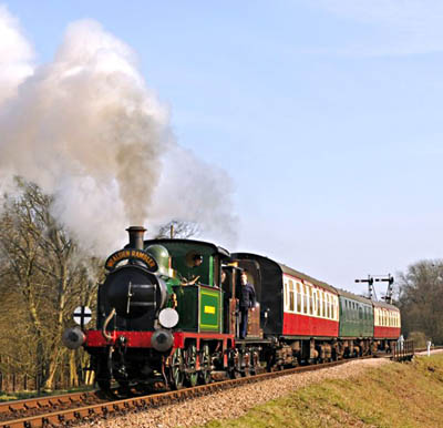 178 and 672 departing from Sheffield Park with the Wealden Rambler - Derek Hayward - 21 March 2010