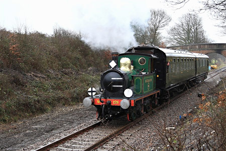 178 with train on the relaid track - Michael Hopps - 5 February 2011