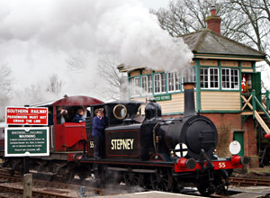 55 'Stepney' with the Queen Mary brake van - Greg Wales - 13 March 2011