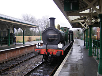 C-class 592 arrives at Kingscote - Malcolm Porter - 19 February 2011