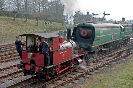 Captain Baxter shunts Blackmoor Vale at Horsted Keynes - Martin Lawrence - 26 March 2011