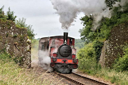 Baxter with Vintage Goods train - Dave Bowles - 25 June 2011