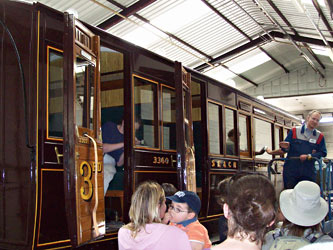 Carriage 3360 during guided tour - Kevin McElhone - 21 May 2011