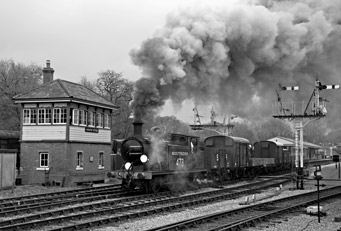 B473 with goods train at Horsted Keynes - Stephen Leek - 31 March 2011
