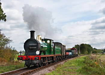 C-class leaving Sheffield Park with vintage goods train - David Haggar - 8 Oct 2011