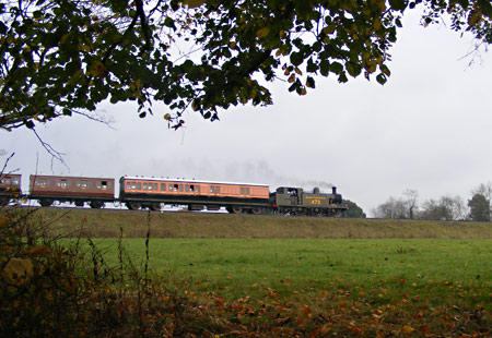 B473 with LSWR carriage - Chris Ward - 5 November 2011