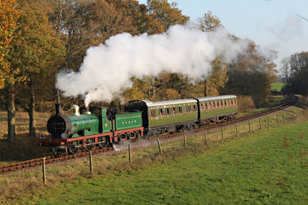 592 with two SECR carriages - Andrew Strongitharm - 19 November 2011