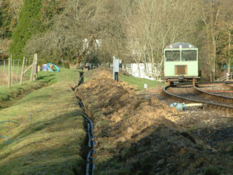 Signal cables and water supply trench at Kingscote - David Chappell - 18 Dec 2011