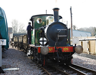 178 shunting wagons at Sheffield Park - Patrick Plane - 8 March 2012
