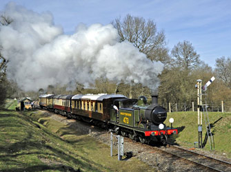 E4 on departure from Kingscote - Derek Hayward - 25 March 2012