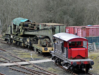 Steam Crane at Horsted Keynes - Derek Hayward - 21 February 2012