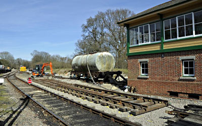 Trackwork changes at Kinscote - Derek Hayward - 25 March 2012