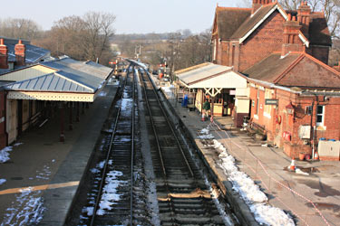 Track laid most of the way through Platform 1 at Sheffield Park - Tony Sullivan - 7 February 2012