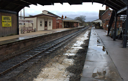 Platform 1 at Sheffield Park, cleared of ballast - John Sandys - 26 January 2012