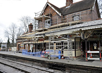 Scaffolding at Sheffield Park - Derek Hayward - 20 March 2012