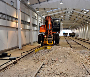 Work to finish the track in new carriage shed - Derek Hayward - 19 February 2012