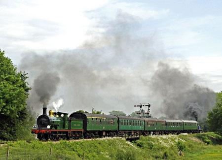 C-class and Bluebell top-and-tail the service train - Derek Hayward - 30 May 2012