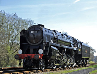 Portrait of 92212 at Kingscote - Derek Hayward - 6 April 2012
