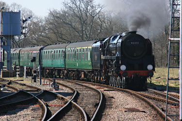 92212 arrives at Horsted Keynes with its first train - Tony Sullivan - 6 April 2012