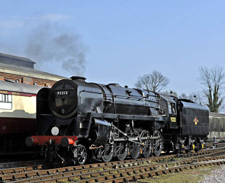 92212 in steam at Sheffield Park - Derek Hayward - 3 April 2012