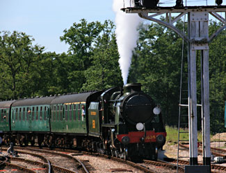 1638 arrives at Horsted Keynes with the 11 am from Sheffield Park - Tony Sullivan - 22  July 2012