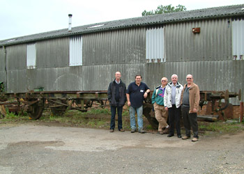 Potential new volunteers with Dave Clarke and the underframe for 3188 - David Chappell - 2 Sept 2012