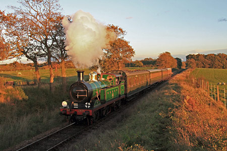 263 on Freshfield Bank with Edwardian train - Yoshi Hashida - 2 November 2012