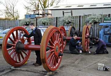 Wheels of Q-class being painted - Derek Hayward - 18 November 2012