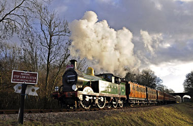 H-class with Victorian Christmas train - Derek Hayward - 21 December 2012
