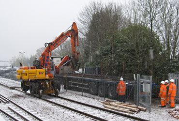 Delivery of rail at East Grinstead - Mike Hopps - 5 December 2012