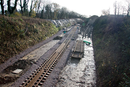 Track extends right into the cutting - John Sandys - 23 November 2012