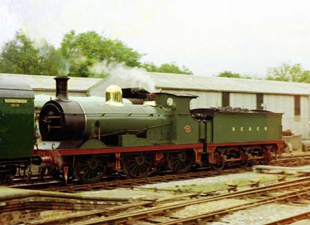 C-class loco No.592 at the Bluebell back in 1977 - Clive Hanley
