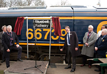 66739 being named at Horsted Keynes - John Sandys - 28 March 2013