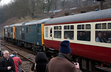 Class 73s on the rear of the train at Horsted Keynes - John Sandys - 28 March 2013