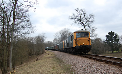 73207, 73119 and B473 on the Blue Belle Special - Reuben Smith - 28 March 2013