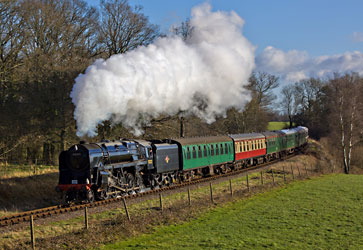 9F on Freshfield curve - Paul Pettitt - 1 January 2013
