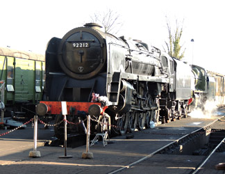 92212 and 1638 on shed - Cameron Smith - 3 March 2013