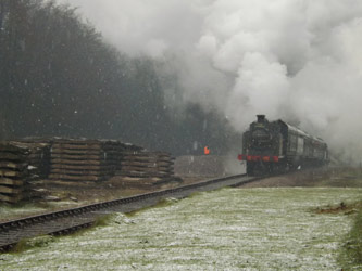 The first train in the snow - Ben French - 23 March 2013