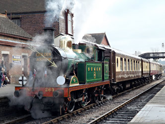 263 with Pullman dining train at Sheffield Park - Simon Lathwell - 3 March 2013