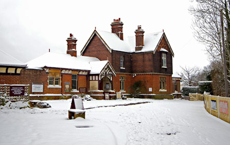 Sheffield Park Station House in the snow - Martin Lawrence - 19 January 2013