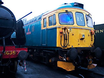 33103 on shed at Sheffield Park - Martin Lawrence - 11 Feb 2013