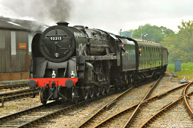 9F arriving at Horsted Keynes - Steve Lee - 30 May 2013
