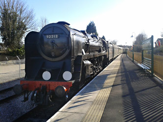 9F arriving at East Grinstead - Cameron Smith - 20 April 2013