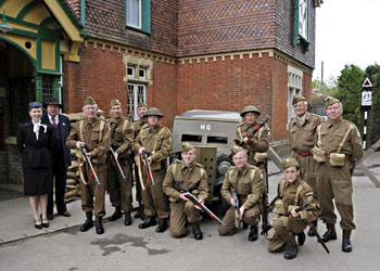 Homeguard, with Tim and Louise, at Horsted Keynes - Derek Hayward -11 May 2013