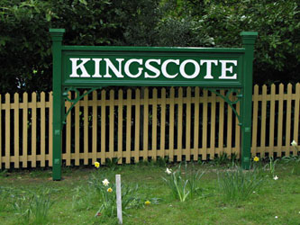 New forecourt sign at Kingscote - Richard Hill - 7 May 2013