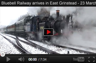 The Bluebell Railway arrives in East Grinstead - Official video of 23 March 2013