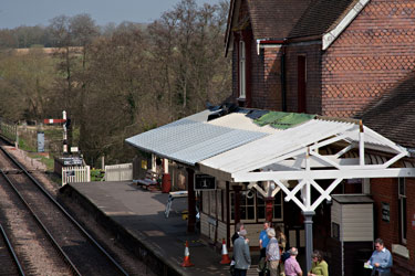 Zinc sheeting on the canopy at Sheffield Park - John Sandys - 25 April 2013