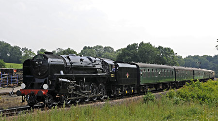 9F approaches Horsted Keynes - Derek Hayward - 7 July 2013