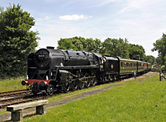 9F approaches Kingscote - Derek Hayward - 29 June 2013