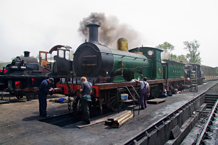 592 being warmed through at Sheffield Park - John Sandys - 16 July 2013
